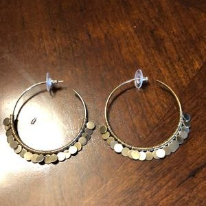GUC Stella & Dot gold hoop earrings